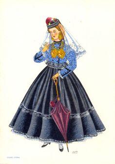 Delcampe – La plus grande marketplace pour les collectionneurs History Of Portugal, Umbrella Painting, Mein Land, Portuguese Culture, Douro, Visit Portugal, Festival Dress, Folk Costume, Western Outfits