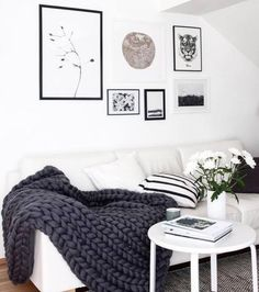 Pinterest: mia ☾ Monochromatic apartment decor