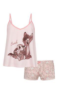 Pijama com top de alças Disney Bambi