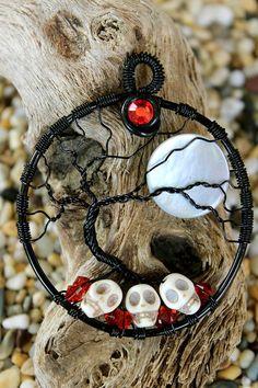 Tree of Life - Skulls with Moon