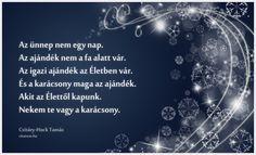 Csitáry-Hock Tamás karácsonyi vallomása.