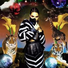 Instagram photo by allthingssuzette - Come Play with Me. #digital #art #magic #hyperrealism #fantasy #surreal #kendall #jenner @kendalljenner #sunday #times #sept14 #balmain @balmainparis #oliver #rousteing @olivier_rousteing #zebra #lions #disco #balls #calla #lilies #magical #night #mystery #abounds #fashion #illustration #Suzette✨