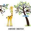 Animals And Tree Wall Sticker