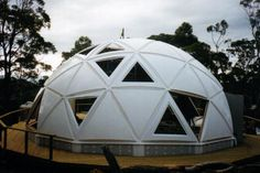 geodesic dome homes | the designer, builder and occupierof a geodesic dome home in Tasmania.