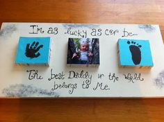 Father's Day craft..freaking precious. Doing this for Christmas for sure.