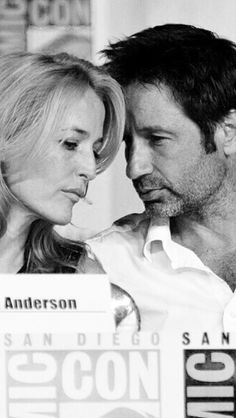 Gillian Anderson and David Duchovny at SDCC 2013