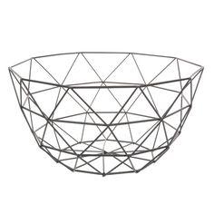 GRAPHIQUE metal bowl in black D 27cm