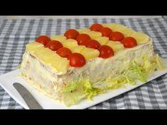 Pastel frío de atún, piña y surimi con pan de molde ¡Fácilisimo! | Cuuking! Recetas de cocina