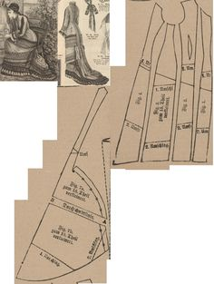 Der Bazar 1878: Summer dress from dark blue zephyre and yellowish gauze-quadrillé with light blue-red-yellow point-russe trimming and colorful ribbons; 1. and 2. front parts, 3. and 4. side gores, 7. back part (add a shawl-tunique too)