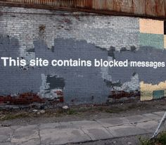 "Banksy ""Blocked Messages"" (Better Out Than In – Day 27)"