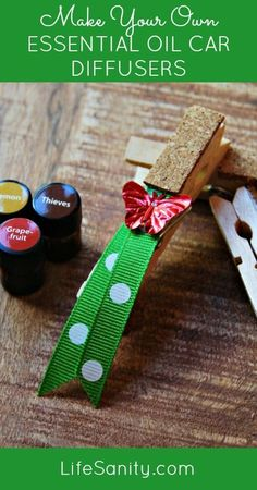 Make Your Own Essential Oil Car Diffusers | Life Sanity