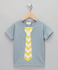 Playtime is serious business, and this snuggly tee sets the style standard high. With cuddly comfort and a snazzy tie, this piece lets any little one get right to work.