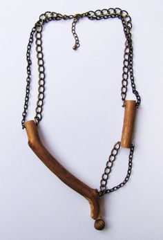 Wooden Necklace, Eco-friendly Necklace, Autumn Necklace Collection