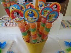 golosinas personalizadas candy bar mesa de golosinas baby tv