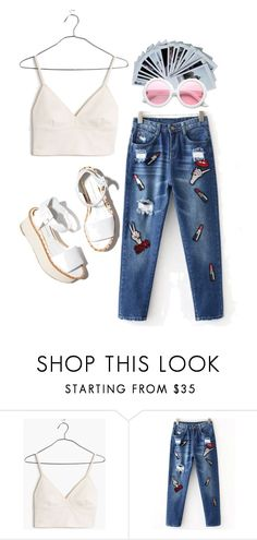 """Untitled #8"" by vexxxy on Polyvore featuring Madewell, Polaroid, ZeroUV, Paloma Barceló and HAPPYSATURDAY"