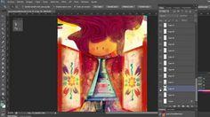 Bocetos y un poquito del proceso de ilustración-Andreaga!