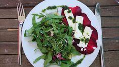 Rote Beete mit Kresse-Öl und Kräuter-Salat – volxkuechebonn