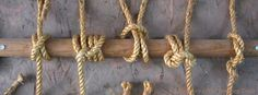 Knots/hitches at the ‪#‎Yawgoog‬ Campcraft Center and New Frontier Program.  Image by David R. Brierley.