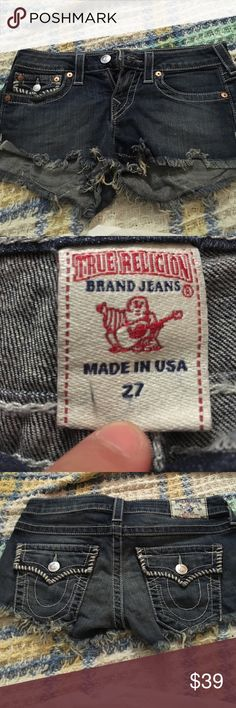 True religion cut off shorts True religion cut off shorts good condition no holes no stains True Religion Shorts Jean Shorts