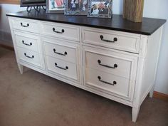 LOVE this chalk paint buffet!