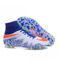 online store e4c56 07967 Acheter Nike HyperVenom Phantom II FG Football bottes pour hommes Bleu  Blanc Orange pas cher en. Chaussures ...