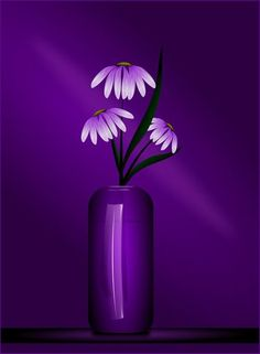 "(via ""Study in Purple"" Digital Art art prints and posters by Tim Seward - ARTFLAKES.COM)"