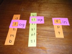 This game is shown in use for phonemic awareness, but I could easily see it being used for math facts and more!