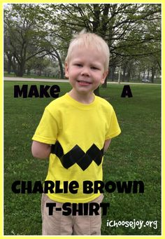 Charlie Brown t-shirt. Easy to make for your kids.