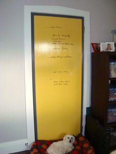 Whiteboard Paint on an Internal Door in my Office