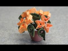 """Quilled Miniature plants: Yellow """"bunny ear"""" flowers or shamrocks if done in green Quilling Videos, 3d Quilling, Quilling Flowers, Paper Quilling Jewelry, Quilling Earrings, Paper Earrings, Butterfly Birthday Cards, Birthday Greeting Cards, Rakhi Making"""