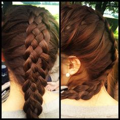 trenza/braid Pautips. But done especially loosely