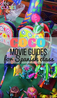 Coco movie guide for Spanish class - Both Spanish & English versions included with answer keys!