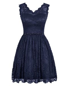 Diyouth Elegant Short V Neck Lace Flower Formal Bridesmaid Dress Navy Size 16 Diyouth http://www.amazon.com/dp/B00XY6M780/ref=cm_sw_r_pi_dp_l-ttwb0KZPZCN