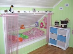 Built in bed...would love this in a different color scheme for Brayden and Kye's rooms