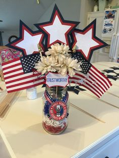 Boy Scout Eagle Court of Honor centerpiece