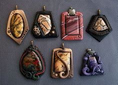 Stone Pendants with Polymer clay | Flickr - Photo Sharing!