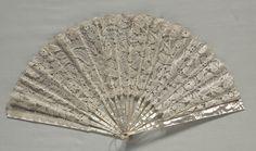 1860 Bobbin lace fan - Cleveland Art Museum