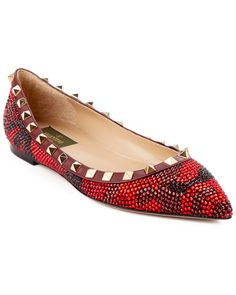 "Spotted this Valentino ""Punkouture"" Embellished Suede Ballet Flat on Rue La La. Shop (quickly!)."