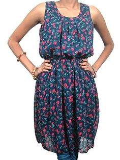 Beach Wear Dress Blue Red Floral Bohemian Hippie Dresses for Her Xs Mogul Interior http://www.amazon.com/dp/B00TS60LJ2/ref=cm_sw_r_pi_dp_A.d8ub0A8Q0WV