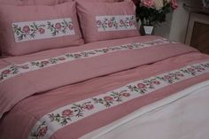 Bedroom Sets, Bedding Sets, Bedroom Decor, Floral Bedding, Linen Bedding, Yandex, Hand Embroidery, Embroidery Designs, Patchwork Designs