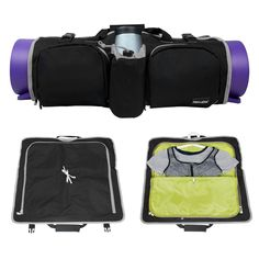 """Hans & Alice Extra Large Tote Yoga Mat Bag (Black/Grey). Durable Fabric To Keep Your Supplies Safe And You Satisfied, Two ways it can be held: shoulder and tote. Make Your Yoga Training Easier -- no longer need to carry heavy yoga mats and other equipment. Super Large Capacity Carrier--large enough to hold a 32 Oz Nalgene or 32 Oz Hydro flask. Measuring 11.4"""" x 11.4"""" in size. Made from Oeko-Tex Certified Material -- Easy to clean, zippers and stitching are also great quality. Perfect Gift..."""