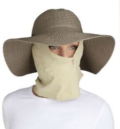 Face sun protection drape and packable sun straw hat 07c4ac316d0d
