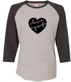 a41769ab70f SET OF TWO I love my wife and wife baseball by MaryTheTshirtFairy Valentine  T Shirts