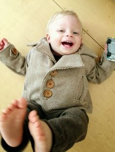 Modern Handmade: Herringbone Jacket for the Little Man