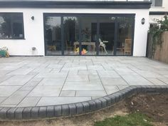 Kandla Grey Sawn Smooth Honed Sandstone Mixed Patio Pack free 48 hour nationwide delivery* Buy Garden Paving Slabs Grey Black all colours Garden Slabs, Patio Slabs, Garden Paving, Paving Stone Patio, Block Paving Patio, Sandstone Paving Slabs, Granite Paving, Outdoor Paving, Garden Tiles