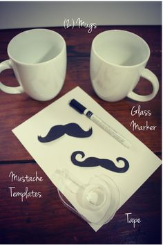 when I say for wedding, I'm thinking the *idea* of writing on mugs, not mustaches :P