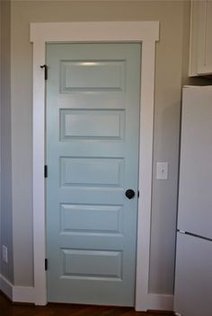 I like the molding over the door - sherwin williams 6478 watery shape of door door frame (note top) black metal - New Every Morning & Mudroom Q u0026 A | Pinterest | Mudroom Hardware and Bag