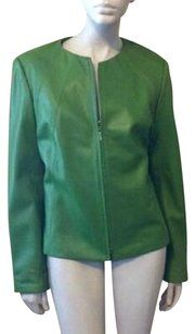Nordstrom Green Leather Jacket