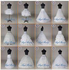 distintos tipos de cancan , o enaguas para armar vestidos