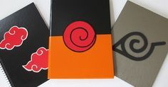 Custom ideas: DIY: How to Make Notebooks Naruto Cute Canvas Paintings, Easy Canvas Art, Small Canvas Art, Mini Canvas Art, Anime Diys, Anime Crafts, Otaku Anime, Mini Toile, Naruto Birthday